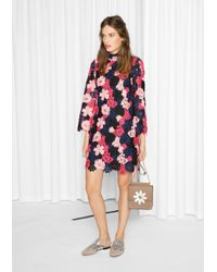& Other Stories Pink Floral Crochet Dress
