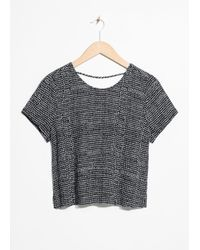 & Other Stories Black Low Back Top