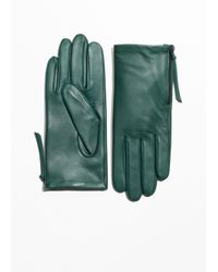 & Other Stories Green Side Zip Gloves