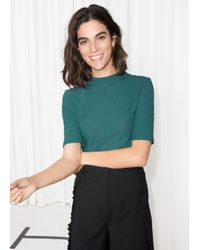 & Other Stories - Green Body Hugging Top - Lyst