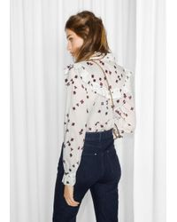 & Other Stories White Frilled Clover Blouse