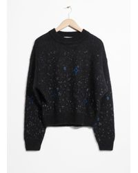& Other Stories Black Starry Sweater
