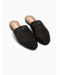 & Other Stories Black Braided Leather Slippers