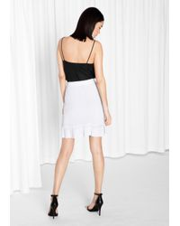 & Other Stories White Knit Skirt