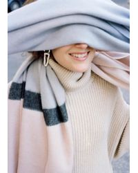 & Other Stories Multicolor Oversized Wool Scarf
