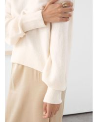 & Other Stories White Mock Neck Sweater