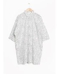& Other Stories White Cotton Shirt Dress