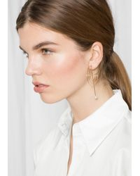 & Other Stories - Metallic Round Geo Earrings - Lyst