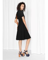 & Other Stories Black Lacing Dress