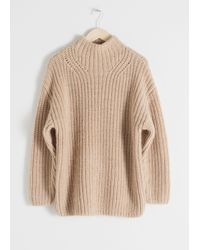& Other Stories Natural Oversized Alpaca Blend Sweater