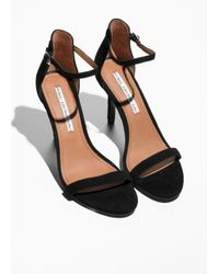& Other Stories Black Two Strap Sandals