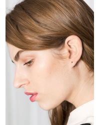 & Other Stories - Metallic Drop Back Earrings - Lyst