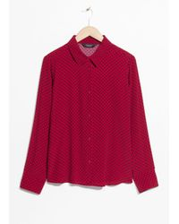 & Other Stories Collared Button-down Blouse