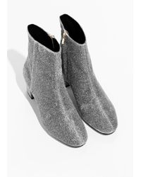 & Other Stories Metallic Ankle Boots