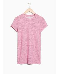 & Other Stories Pink Printed T-shirt