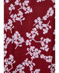 Street One Red Neckholder Kleid mit Print