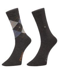 Burlington Socks Gray Grey Everyday Socks - for men