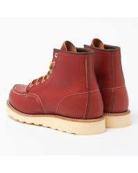 """Red Wing - Brown 6"""" Classic Moc Toe Boot - Oro Russet for Men - Lyst"""
