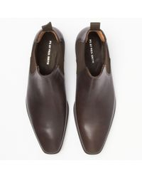 Paul Smith - Paul Smith Dark Brown Leather 'falconer' Chelsea Boots for Men - Lyst