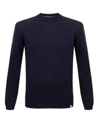 Norse Projects | Blue Sigfred Lambswool Dark Navy Jumper for Men | Lyst