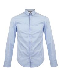 BOSS Green | C-bal Medium Blue Shirt for Men | Lyst