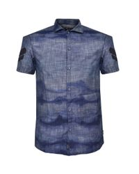 Armani Jeans   Chambray Blue Shirt for Men   Lyst