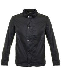 Barbour | Blue Barbour International Sandford Navy Waxed Jacket for Men | Lyst