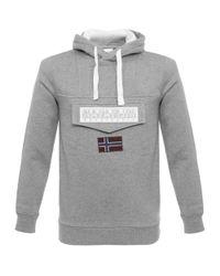 Napapijri - Gray Burgee Grey Sweatshirt for Men - Lyst