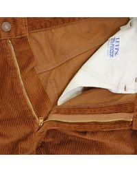Levi's Brown Levi's Vintage 519 Sta-prest Peanut Corduroy Trousers for men