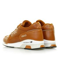 New Balance Multicolor 1500 Made In Uk Tan Leather Shoe for men