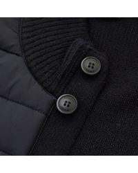 Hackett Blue Hackett Quilted Full Button Navy Cardigan Hm701661 for men