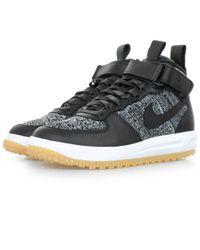 Nike | Lunar Force 1 Flyknit Black Workboot 855984 | Lyst