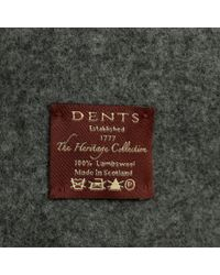 Dents - Gray Grey Lambswool Scarf - Lyst