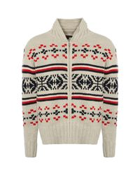 Tommy Hilfiger Fair Isle Pattern Cardigan7843-002 Colour: Snow White, for men