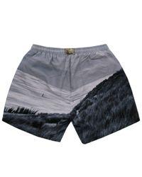 BOSS - Gray Hugo Boss Springfish Open Grey Swim Shorts for Men - Lyst
