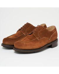 Paraboot Blue Chambord Actem Tan Shoe for men