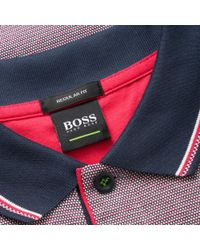 BOSS - Bright Pink Paddy 2 Polo for Men - Lyst