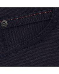 Naked & Famous Blue Naked And Famous Super Skinny Indigo Denim Jeans 10101 for men