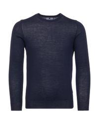 NN07 Blue Navy Charles Knitted Jumper for men