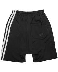 Y-3 Black Three Stripe Shorts for men