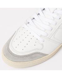 AMI - Red Rouge White Thin Low Trainers for Men - Lyst