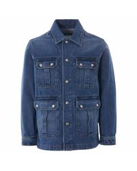 AMI Blue Worker Denim Jacket for men