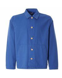 Armor Lux Blue Heritage Fishermans Jacket for men
