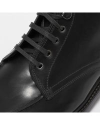 G.H.BASS Black Monogram Aron Leather Boot for men