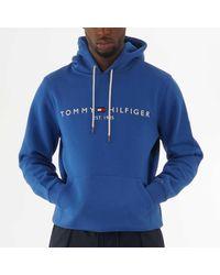 Tommy Hilfiger Tommy Logo Hoodie - Blue Quartz Mw0mw10752 for men