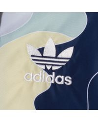 Adidas Originals - Blue Multi Printed Windbreaker for Men - Lyst