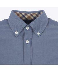 Aquascutum Blue Bevan Ls Shirt for men