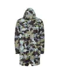 Rains - Green Aop Long Jacket for Men - Lyst