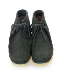 Clarks Black Suede Shoe for men