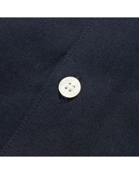 Fred Perry Blue Navy Knitted Collar Oxford Shirt for men